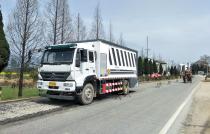 【工地报告】山东陆达水泥撒布车在安徽G105宿松段水毁修复工程上大展身手