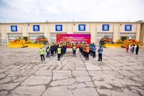 4台小松大型推土机在内蒙古霍林河交付用户