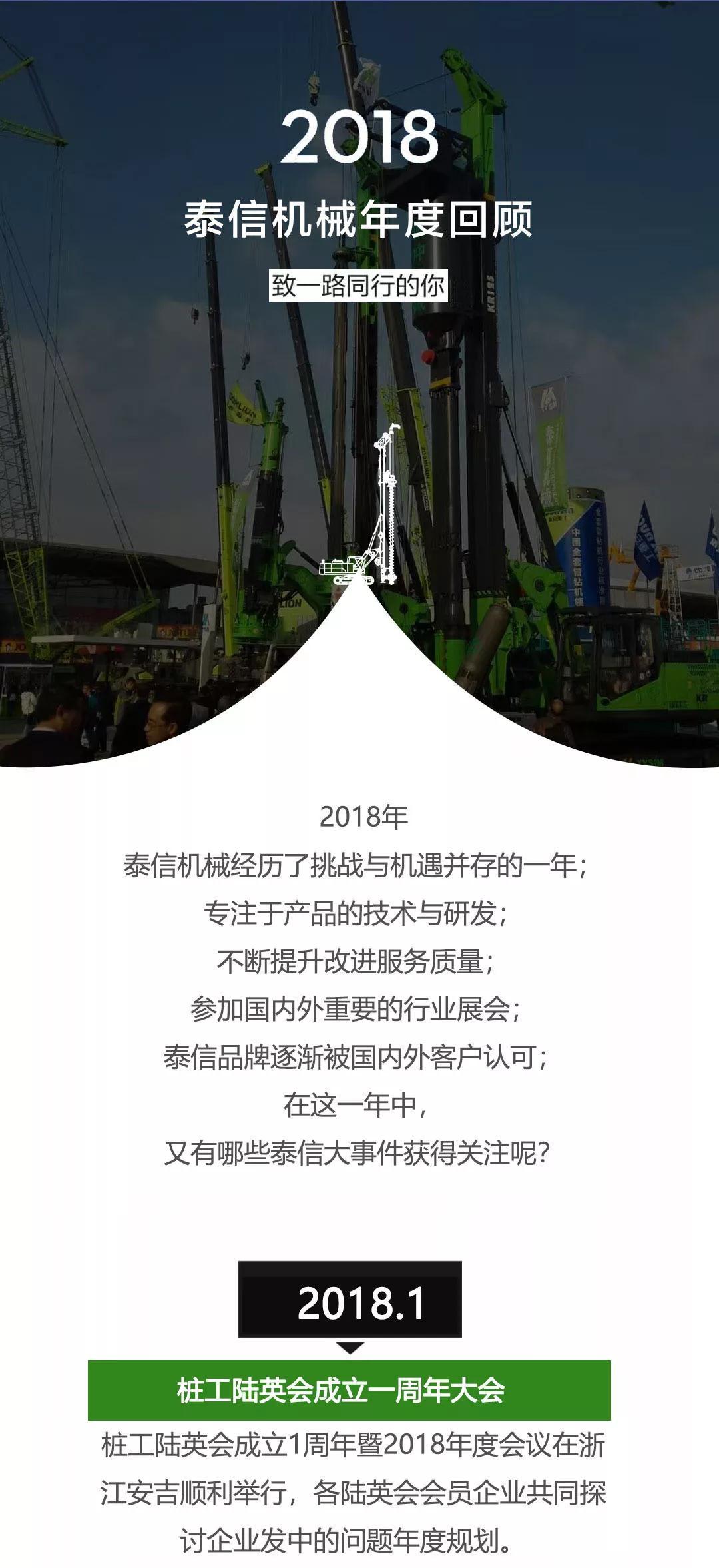 泰信机械 2018 年度回顾