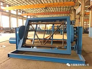 方圆:起重机械厂标准节片状扇旋转焊接工装试制成功