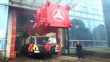 红色巨人闹元宵:SAC16000S全地面起重机成功下线