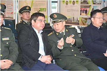 长沙警备区刘长进司令员一?#26800;?#30740;考察中联环境