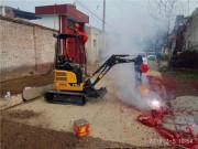 约翰迪尔第一台迷你型挖掘机E18zs花落陕西宝鸡