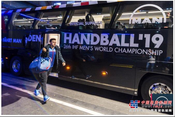 赛事助威  曼恩助力世界手球锦标赛