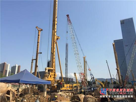 徐工XR550D交付深圳盛业公司,进驻华强金融大厦项目