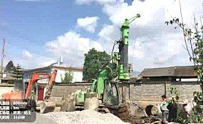 泰信机械KR40旋挖钻机施工案例