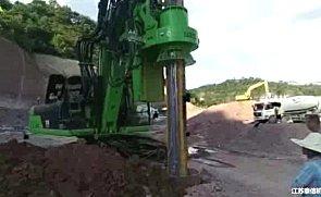 泰信机械KR220C旋挖钻机视频施工案例