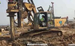泰信机械KR125A旋挖钻机施工案例