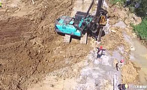 泰信机械KR80K旋挖钻机施工案例