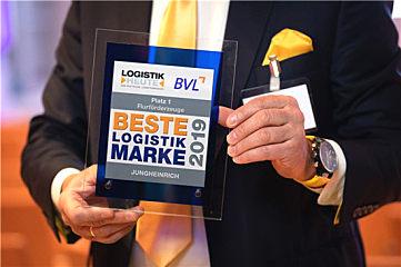 """永恒力再?#31283;?#33719;""""Beste Logistik Marke"""" (最佳物流品牌)奖"""