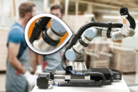 igus 快速装配,安全牢固:用于协作机器人的新型拖链安装夹具