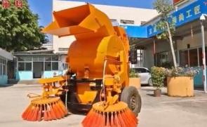 闽科背挂式双滚筒扫路机施工视频