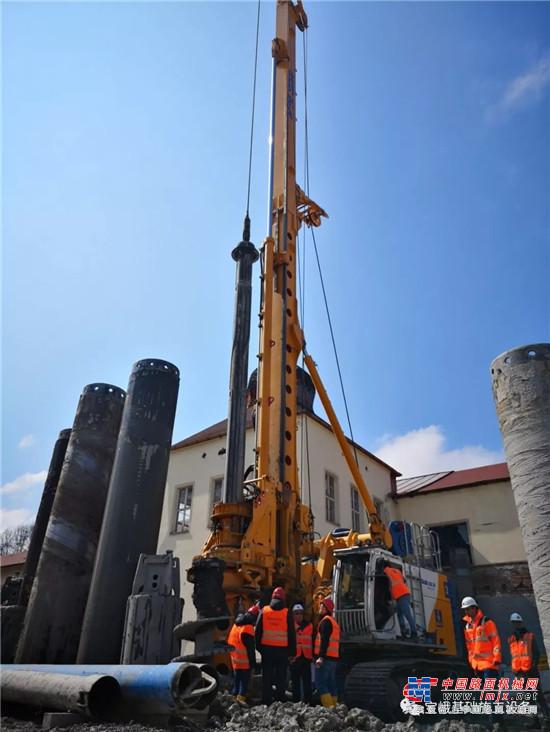 升级版宝峨BG 30专用型钻机用于德国泰根湖医院全套管咬合桩项目