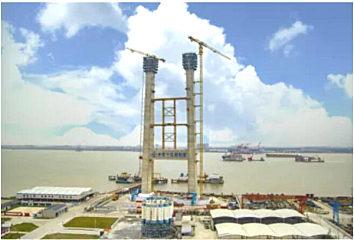 中联重科塔机参建十三五重点工程瓯江北口大桥 攻克三大施工难题
