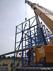 柳工首批TC800C5起重机完美首吊,助力打响绿金淮北保卫战