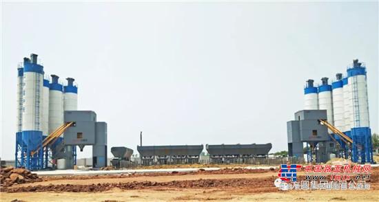 方圆HZS120D集装箱搅拌站服务于金华市最大项目