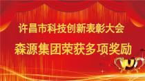 森源集团在许昌科技创新表彰大会荣获多项奖励