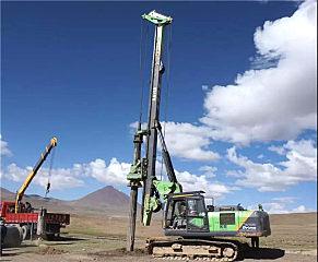 傳遞美好,助力高原地區建設——泰信機械旋挖鉆機西藏施工