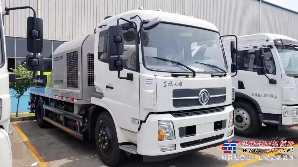 中联重科精品车载泵批量发往越南 助力当地基础建设