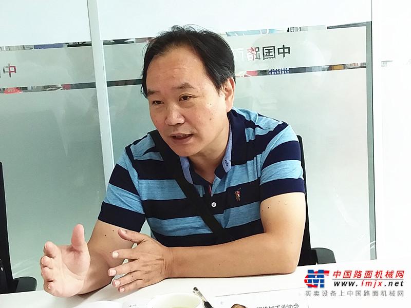 中国工程机械工业协会祁俊会长一行莅临中国路面机械网调研指导 探讨行业电商发展新趋势