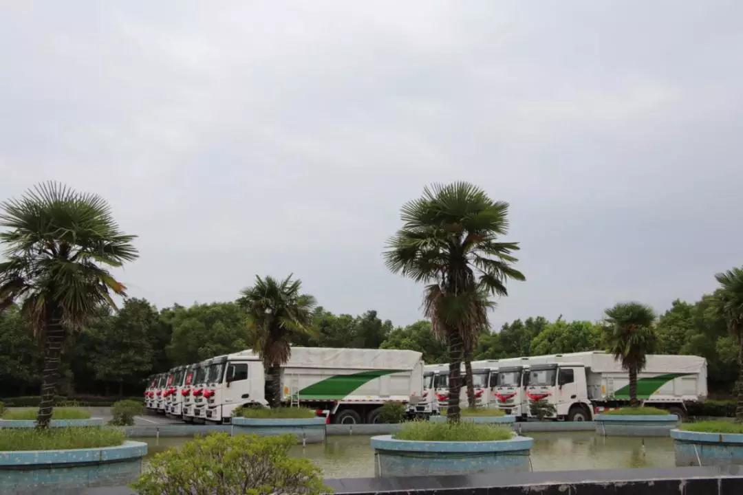 泗洪推介会斩获批量订单 现场交付20余辆G7渣土车