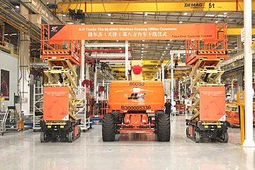 献礼公司成立五十周年,捷尔杰天津工厂迎来第8万台高空作业平台下线