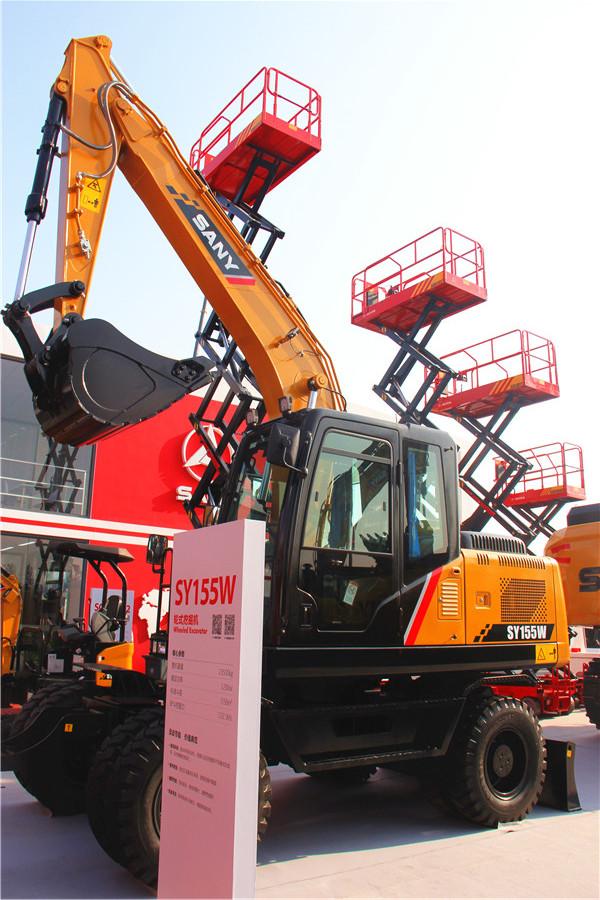 灵动节能:三一SY155W轮式挖掘机
