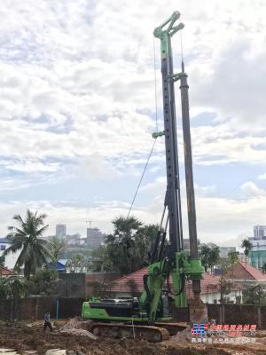 泰信KR285旋挖钻机进入柬埔寨市场,产品遍布东南亚