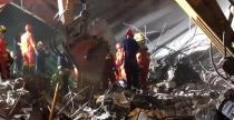 无锡高架垮塌事故,工程机械第一时间上阵救援