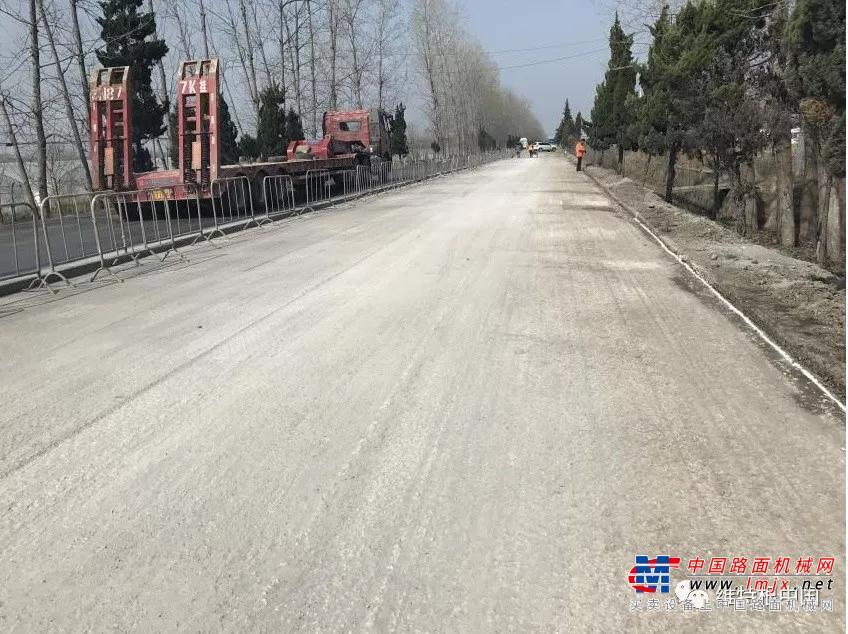 绿色道路养护   维特根移动式泡沫沥青厂拌冷再生技术助力G329国道安徽肥东段维修