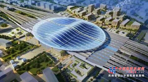 中铁建工集团承建的京雄城际雄安站预计明年底投入使用
