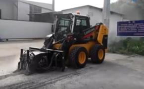 柳工滑移装载机应用视频