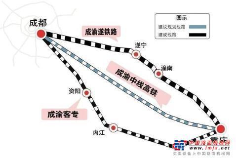 350公里时速!重磅高铁项目落子!成渝中线高铁终于来了
