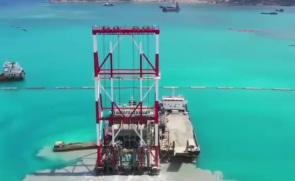世界首艘自动化振冲碎石桩施工船——东帝汶帝巴湾新集装箱码头工程