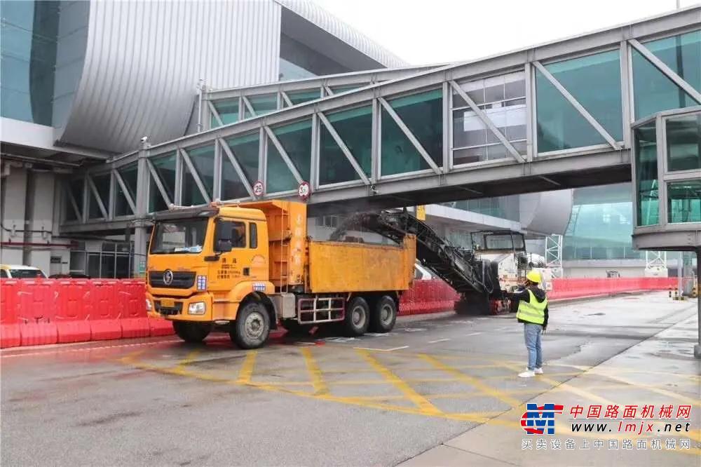 維特根銑刨機助力白云機場2020年首個不停航施工項目正式復工