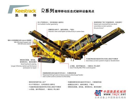 凯斯特R系列履带移动反击式破碎设备