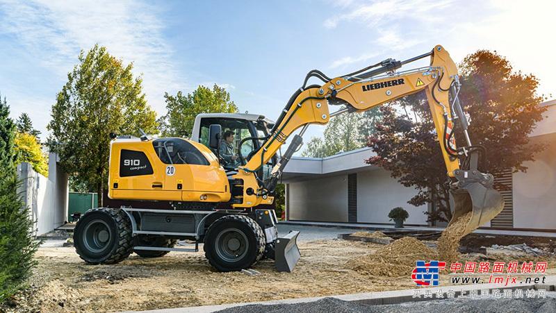 利勃海尔对两款紧凑型轮式挖掘机进行升级