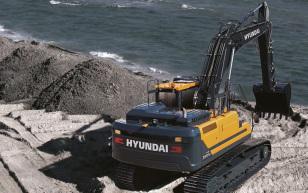 【海外新品】现代建筑设备欧洲公司推出A系列挖掘机HX300AL
