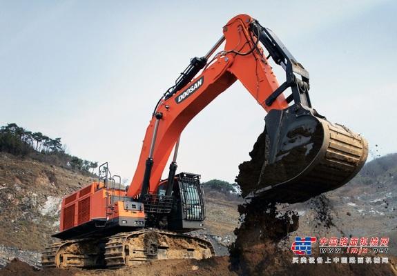 斗山在中国多地陆续签订大型挖掘机订单