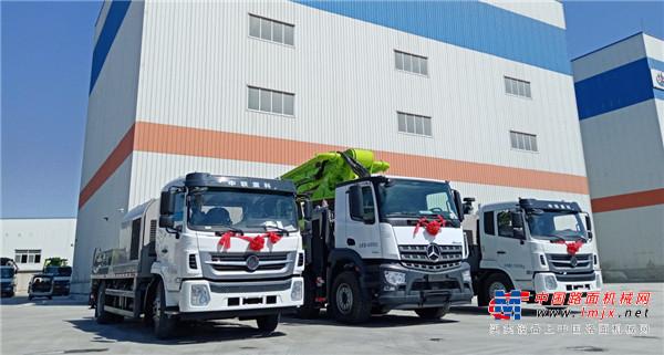 中联重科4.0精品泵送设备交付天津客户