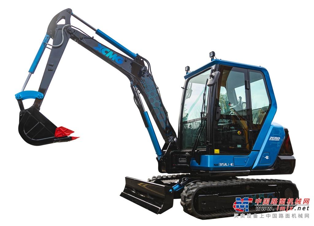 徐工XE35U-E电动挖掘机面向中国市场进行性能测试