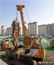 北京地质公司橡树澜湾连续墙项目即将竣工,宝峨液压抓斗致密卵石地层发挥优势