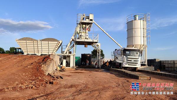 安迈混凝土搅拌设备性能受肯尼亚客户认可