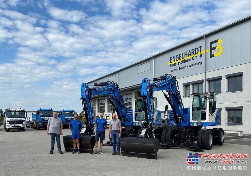 两台洋马移动式挖掘机B110W交付德国客户
