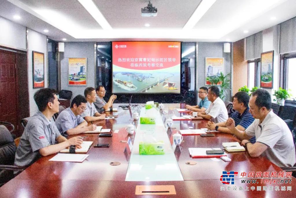 曹妃甸示范区管委会副主任李如忠一行到访西筑公司