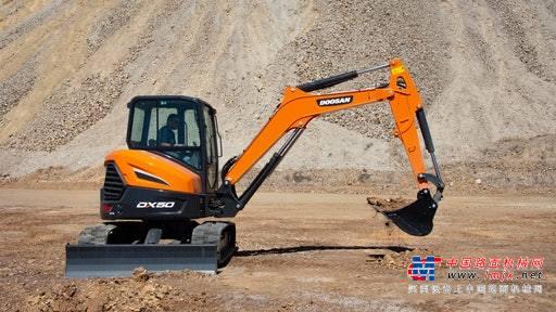 【海外新品】斗山北美公司推出DX42-5K和DX50-5K小型挖掘机