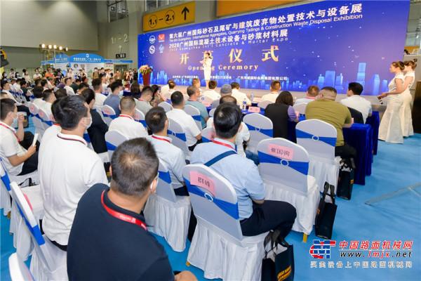 第六届广州砂石展拉开帷幕  中国路面机械网带您直击现场