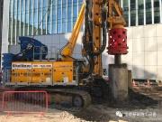 19米深大直径套管跟进起拔无需辅助,宝峨BG 36钻机精准解决伦敦狭小现场施工难题
