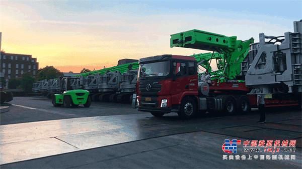 中联重科桩工20台大型旋挖钻交付 携手战略合作伙伴共赢共创