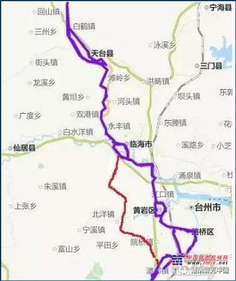 戴纳派克成套设备助力台州黄岩104国道复线建设